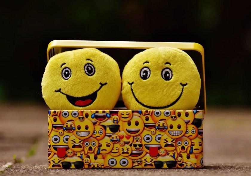 two yellow emoji on yellow case