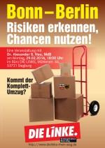 Plakat einer Veranstaltung zum Bonn-Berlin Gesetz aus dem Jahr 2016