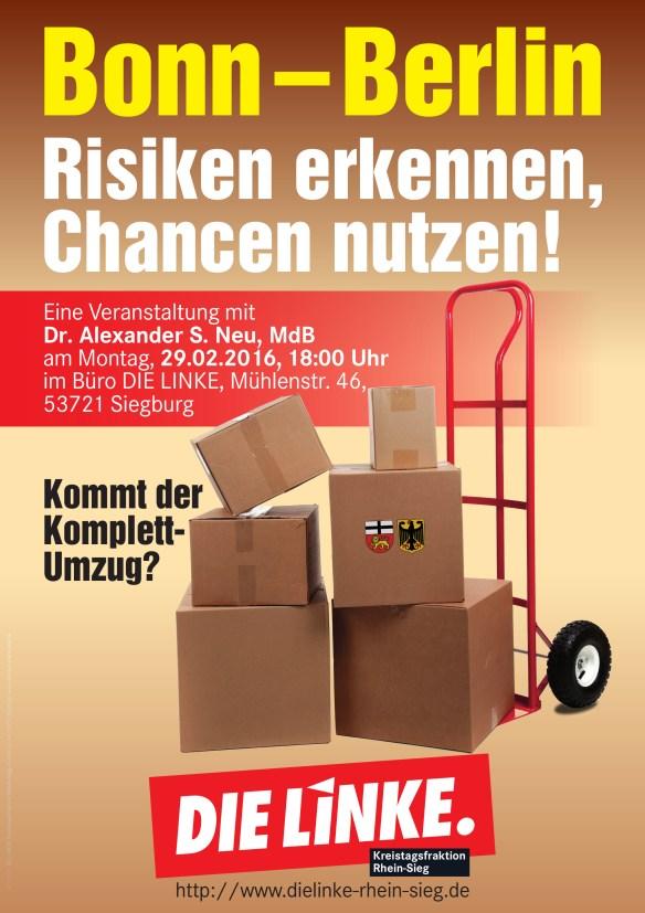 Plakat Bonn Berlin