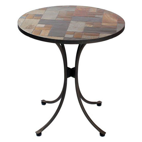 slasto tile mosaic 70cm round patio bistro table