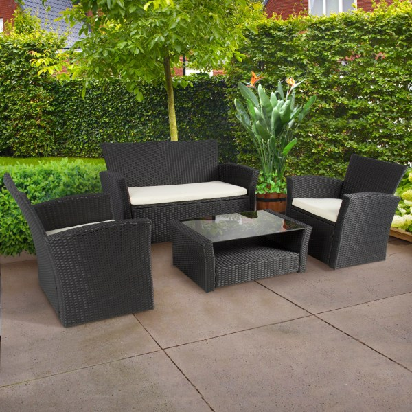 black wicker garden furniture HOW TO SELECT THE BEST QUALITY PATIO FURNITURE FOR YOUR