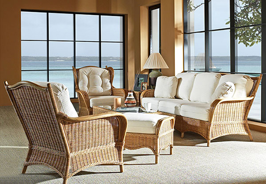 Wicker Furniture in Venice  FL   Cane and Rattan Furniture Living Rooms