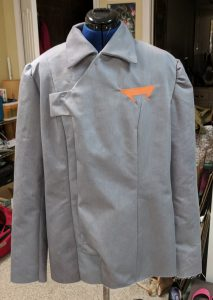 The jacket once the lining is attached