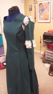 Merida dress with one sleeve attached