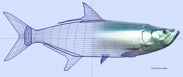 About Rattlin' Jack - Diehard tarpon wire frame by Mick Coulas