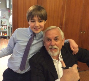 Actor John Ratzenberger recently visited Eagle Hill Southport. He is shown here with student Ryan Austin.