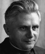 Joseph Ratzinger, as expert for the Vatican II Ecumenical Council, in a photo from autumn of 1964