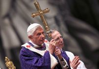 Pope Benedict XVI attends Ash Wednesday mass at the Vatican