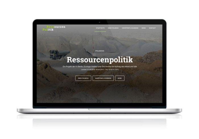 Ressourcenpolitik (PolRess) Webdesign von Rauch Digital