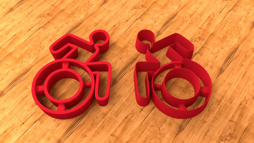 """Ausstechform für Kekse: Rollstuhl-Plätzchen backen. """"New Accessible Icon""""-Edition."""