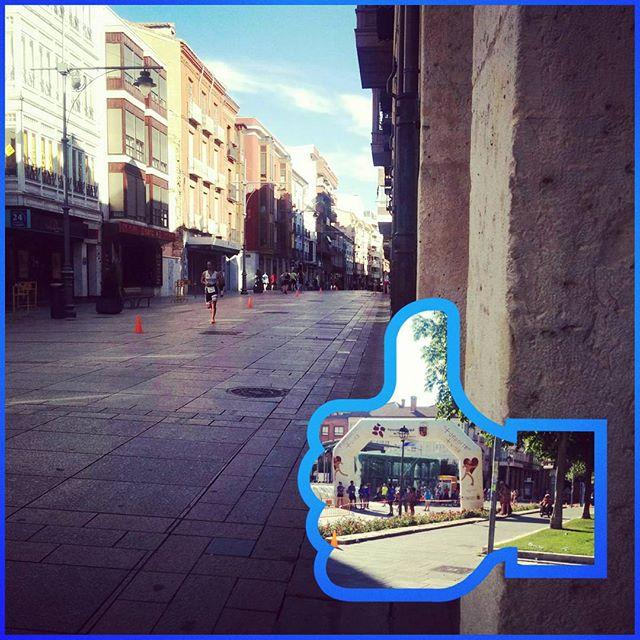 Alegría por el centro de Palencia gracias al triatlon #deporte #triathlon
