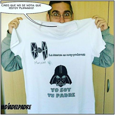 ¡Regalazo! Camiseta artesanal 100% #diadelpadre #starwars #priceless