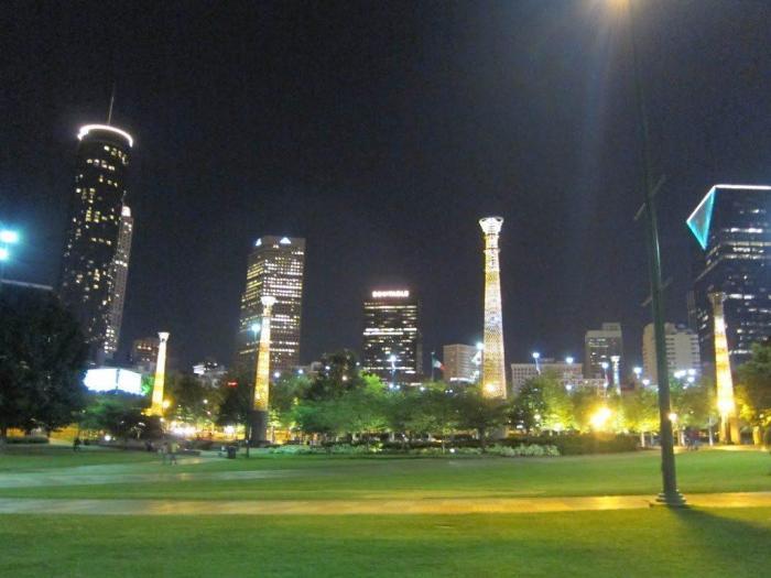 Centennial Olympic Park/ Atlanta Skyline