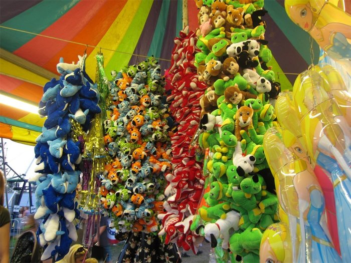Carnival prizes at Algonac Pickeral Tournament