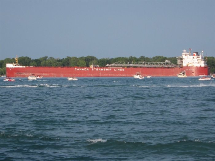 Canada Steamship Lines Freighter on Lake St. Clair