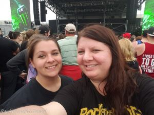 Heather and Kayla in the pit at Rock on the Range 2016