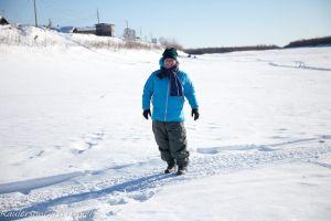 Heather Raulerson standing on the Yukon River