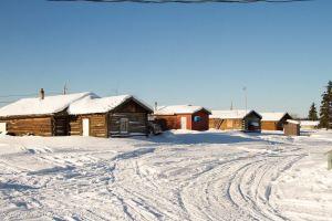 Main Street at Beaver Village, Alaska
