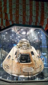 Apollo 16 Capsule with recovery parachute