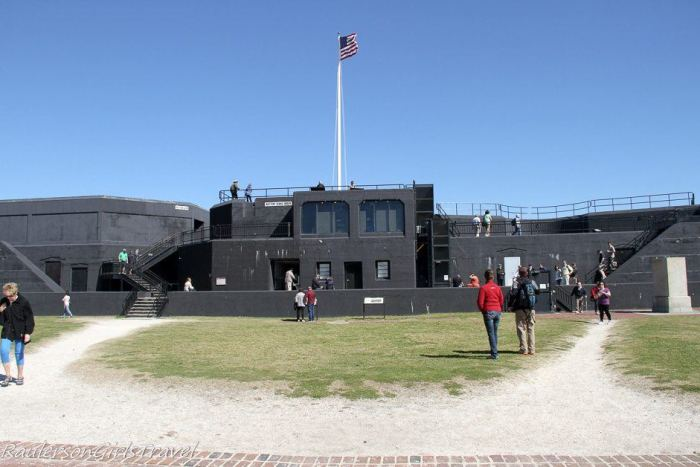 Battery Huger in Fort Sumter built in 1899 for Spanish American War