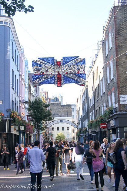 Carnaby Street in Soho, England - The Ultimate 2-Week Itinerary to England & Scotland