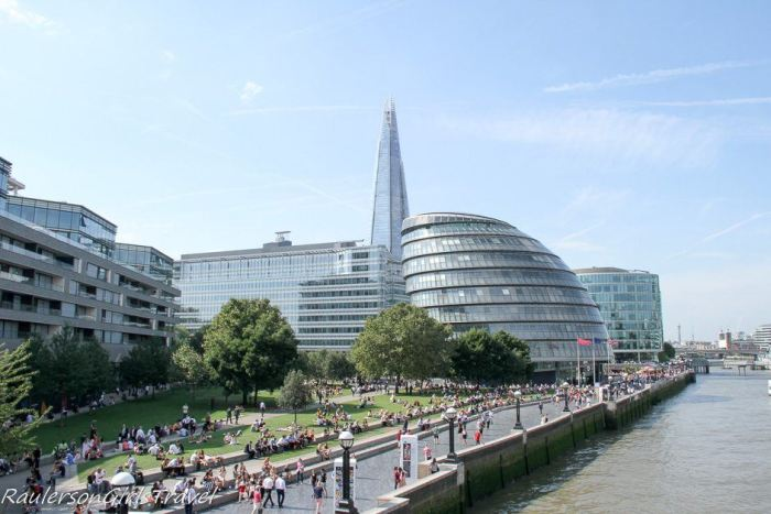South Bank of London by the River Thames