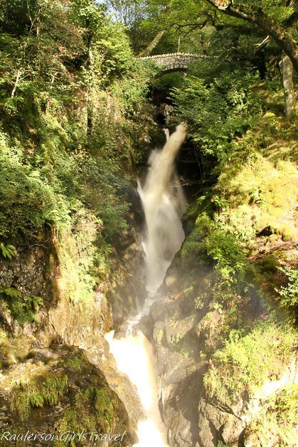 Stock Ghyll Force Waterfall in Ambleside, England