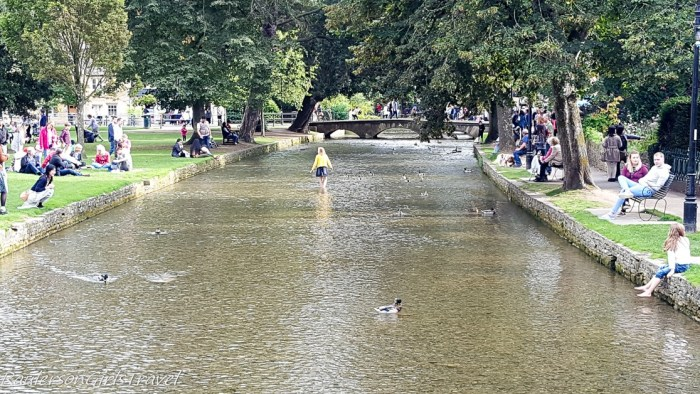 River Windrush in Bourton-on-the-Water, Cotswold village in England