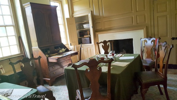 Washington's office at his Headquarters in Valley Forge