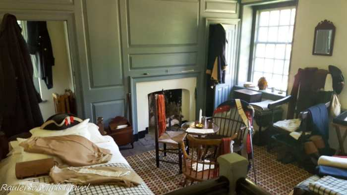 Officer's bedroom at Washington's Headquarters at Valley Forge