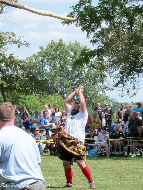 Letting go of the Cabor at the Highland Games