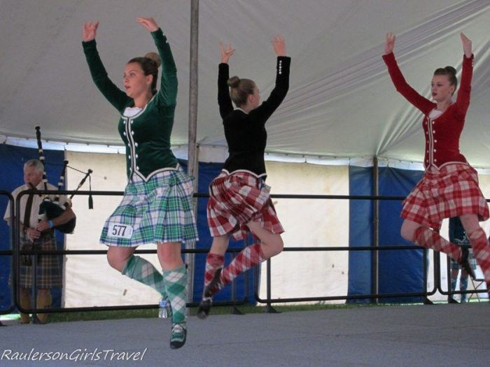 Leaping and Jumping for the HIghland Dancing Competition at the Highland Games