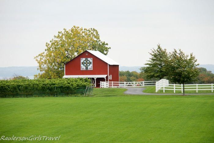 Red barn in Traverse City, Michigan