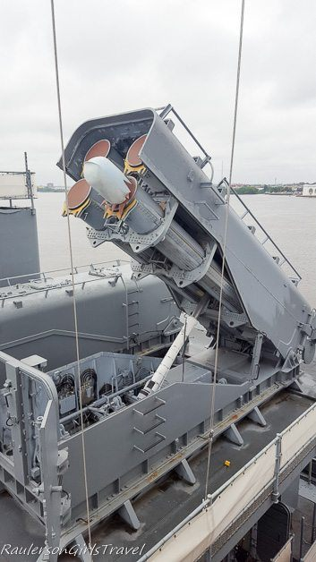 Tomahawk cruise missiles on USS New Jersey
