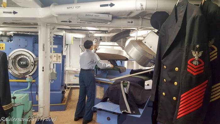 Laundry in USS New Jersey