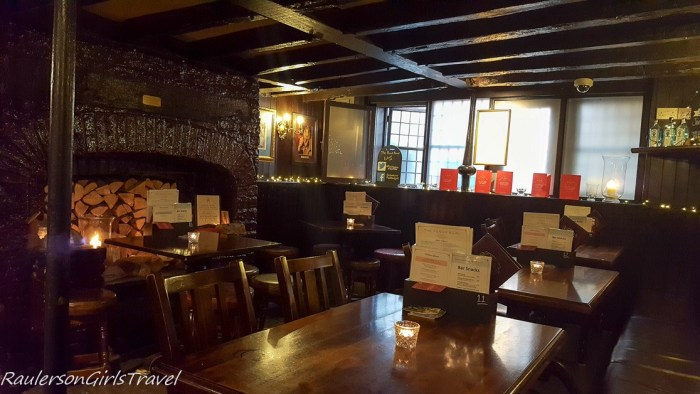Inside he Punchbowl public house in York England
