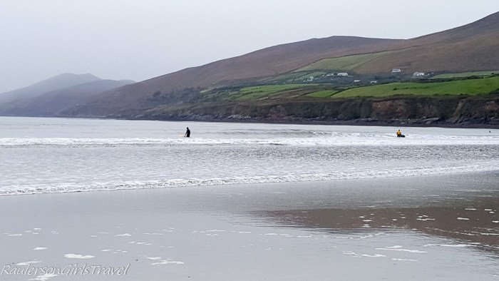 Surfers at Inch Beach Ireland