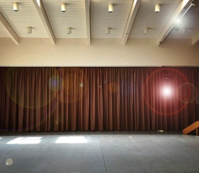 Bühnenvorhang Saal Birkungen, Heilbad Heiligenstadt Raumausstatter Müller