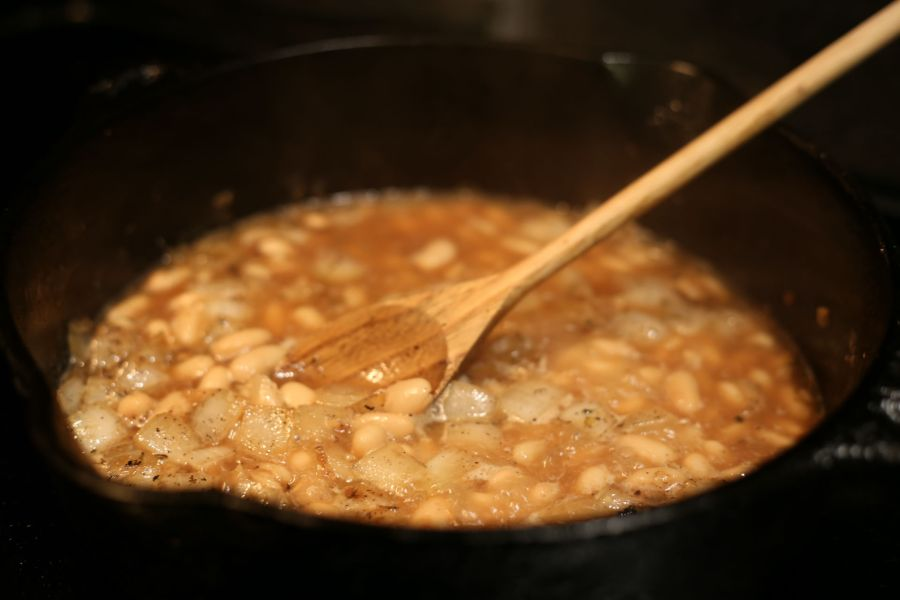 Bootstrapping recipe white bean stew