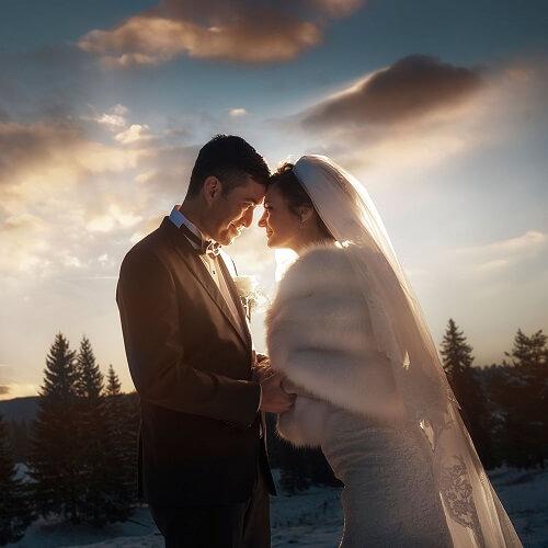 Hochzeitsfotograf-Frankfurt-Brautpaar-Shooting-in-Schneelandschaft