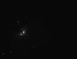 Das Rohbild ab Teleskop ist grau, man sieht fast nichts.