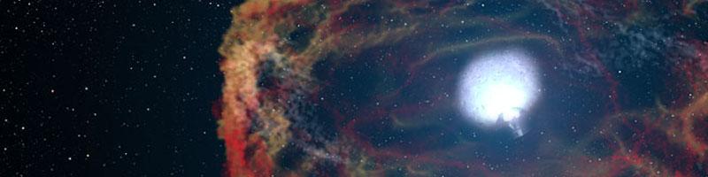 Selbstgemachte leuchtende Supernova