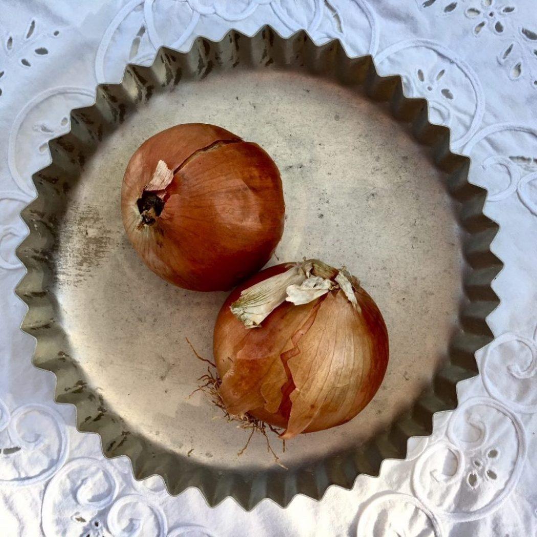 zu eingelegten Gurken gehören Zwiebeln