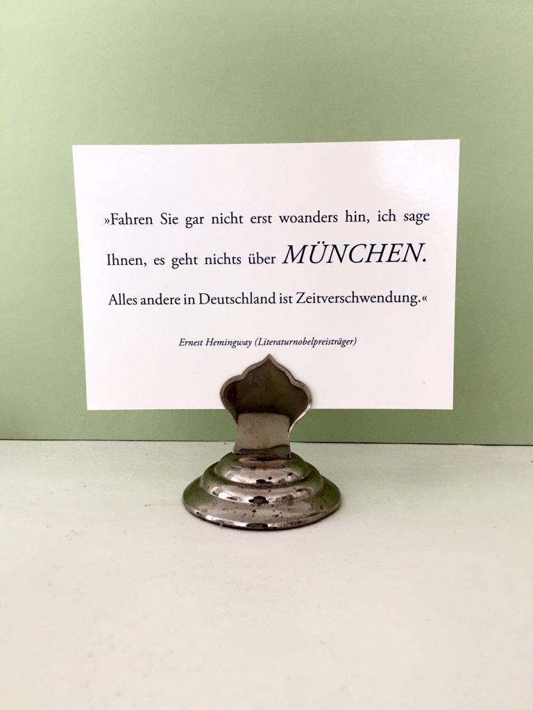 wer hätte das gedacht. hemingway liebte München