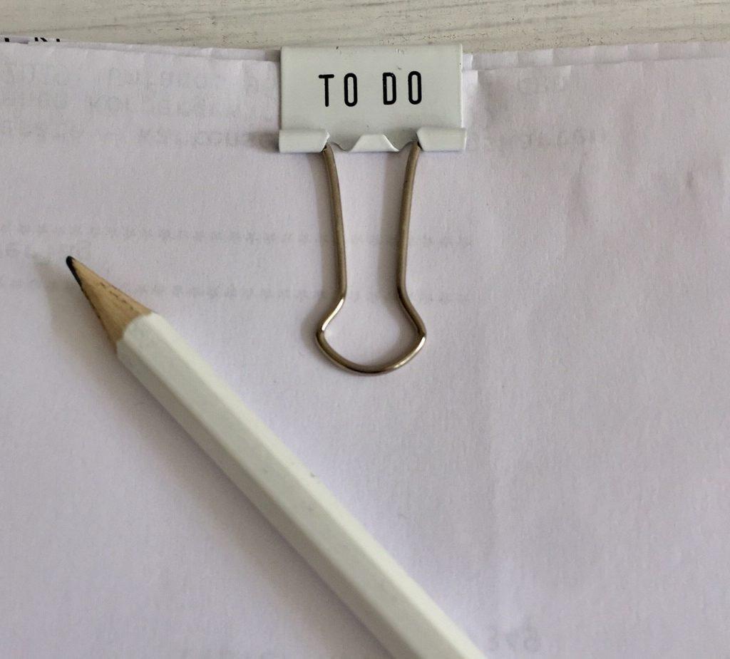 es macht happy wenn die to do liste mal anders geschrieben wird