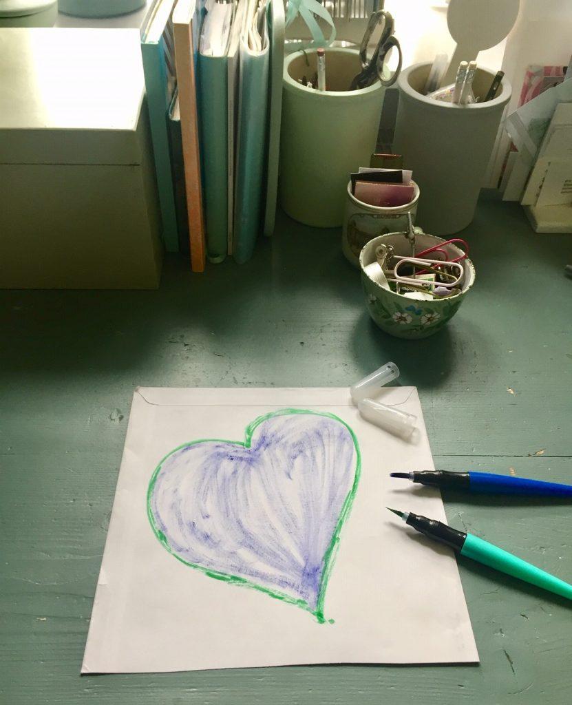 Sonntagsblatt 185! Heute habe ich ein Herz gemalt!