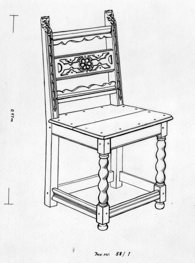 Zeichnung des Stuhls