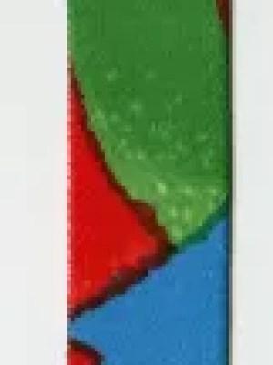 Schmales langes Band mit Muster in grün, rot, blau und gelb