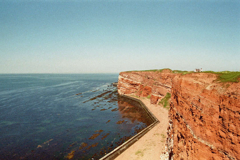 Klippenrandweg auf Helgoland