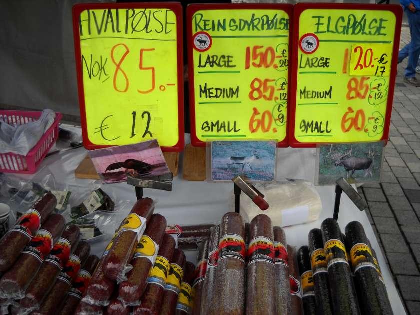 Bergen Markt rentierwurst